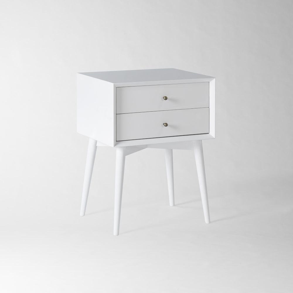 MidCentury Bedside Table White West Elm Australia - West elm white side table