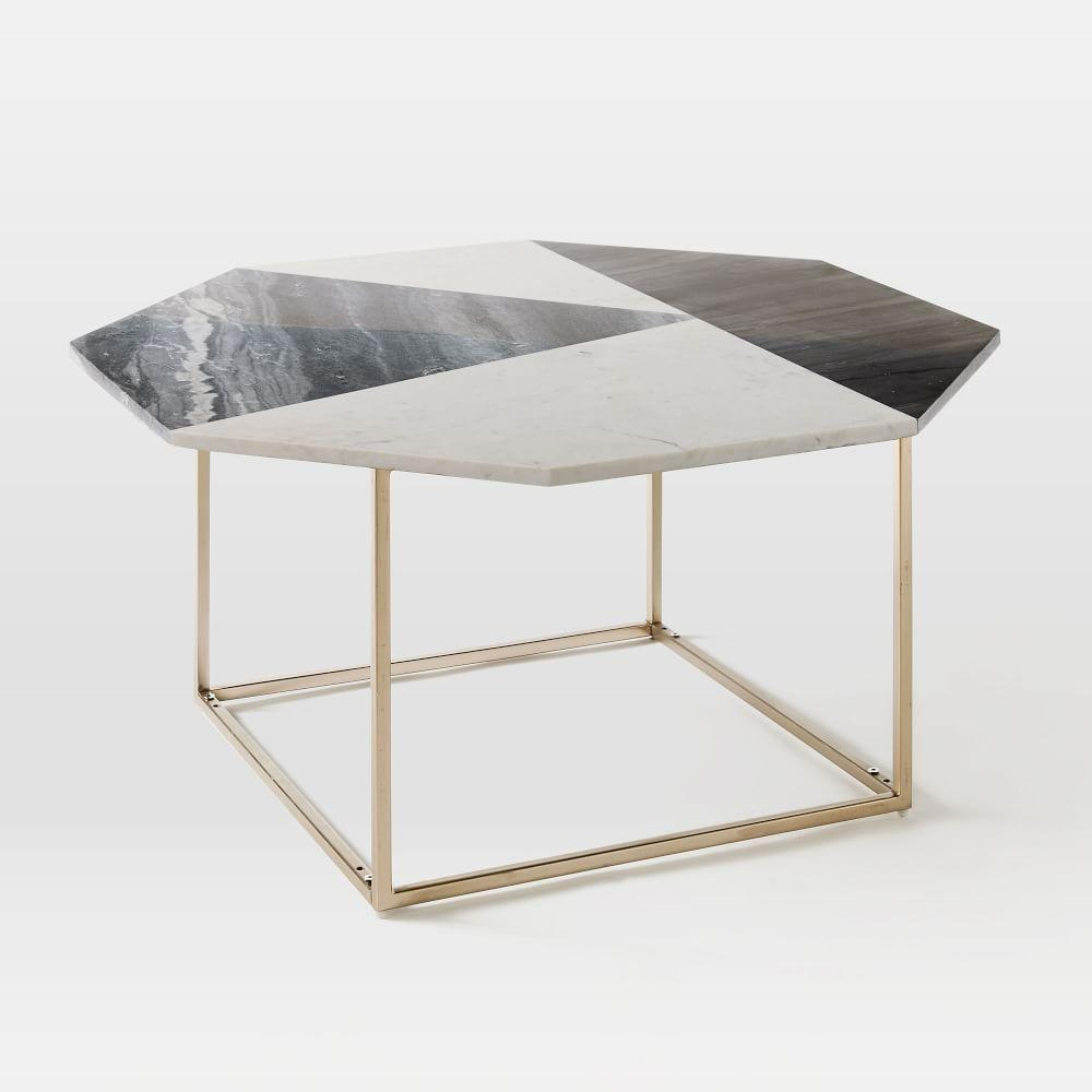 Marquetry Marble Coffee Table West Elm Au