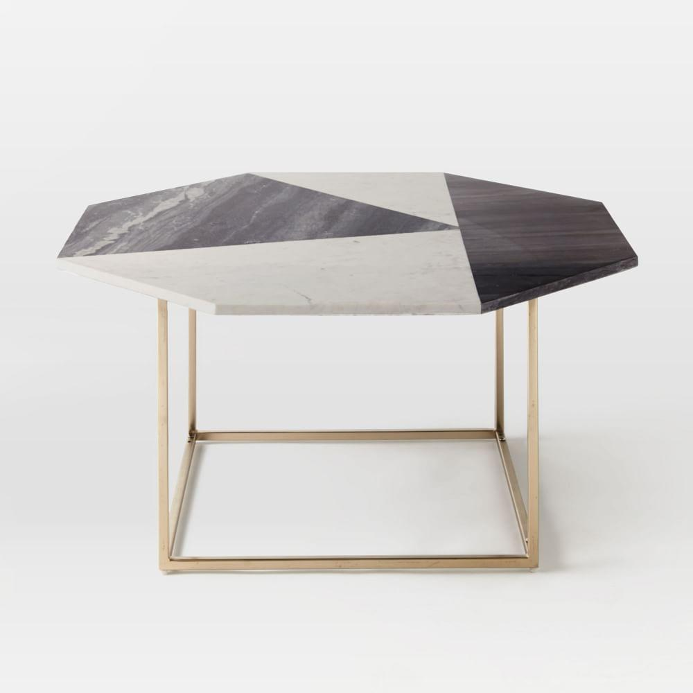 Marble Coffee Table West Elm: Marquetry Marble Coffee Table