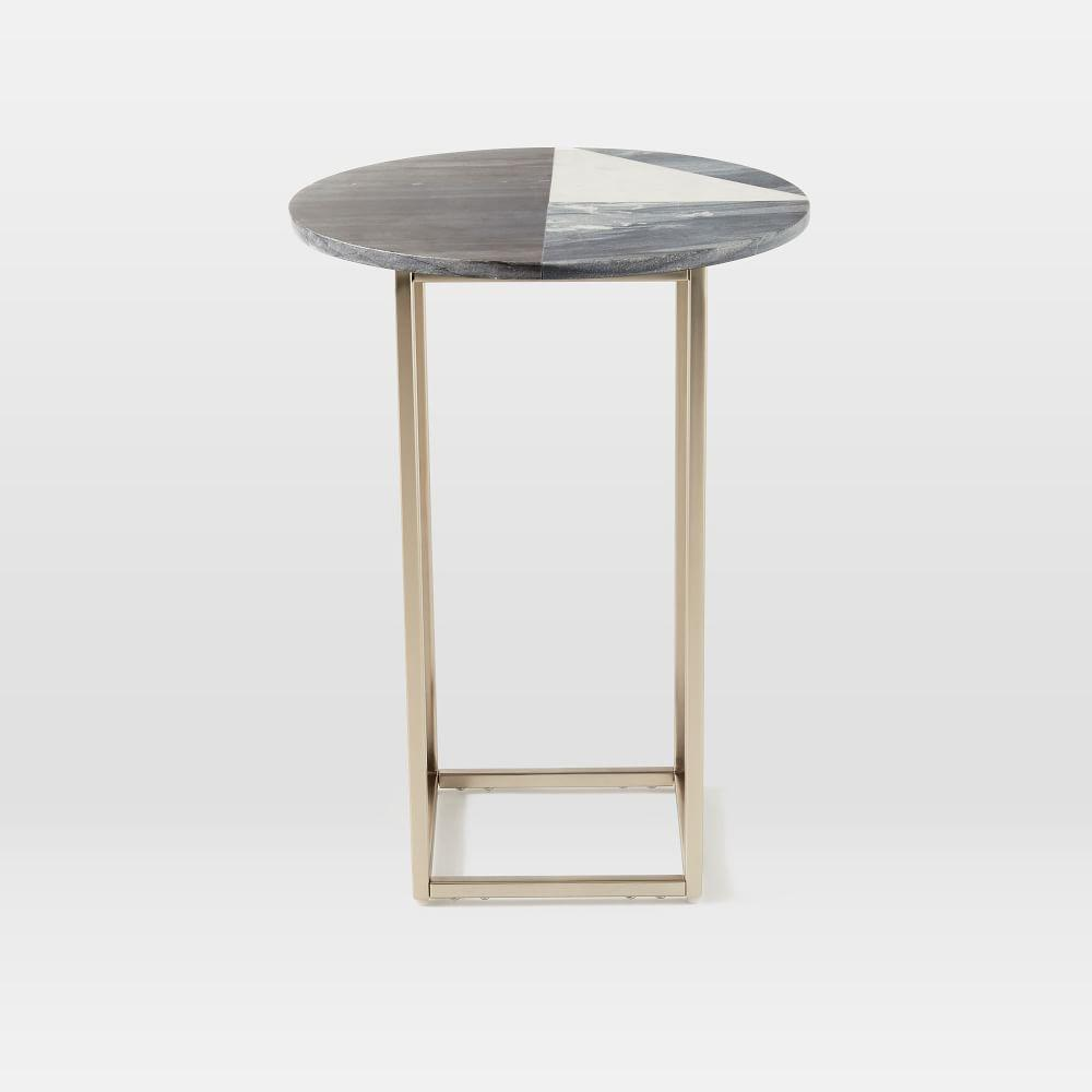 Marquetry Marble Side Table West Elm Au