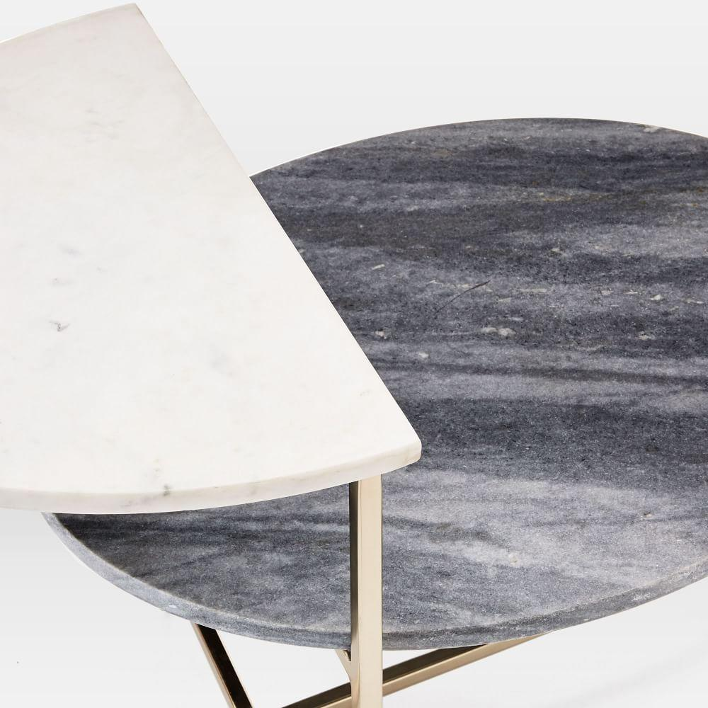 Marble Geo Stepped Side Table West Elm Au