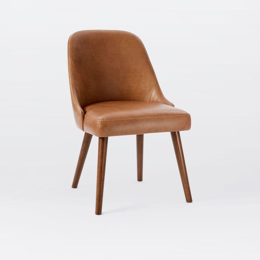Mid Century Leather Dining Chair West Elm Au
