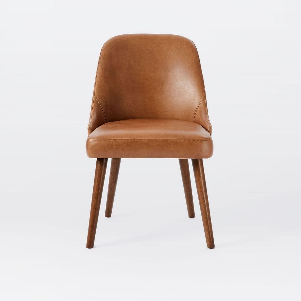 Mid century leather dining chair