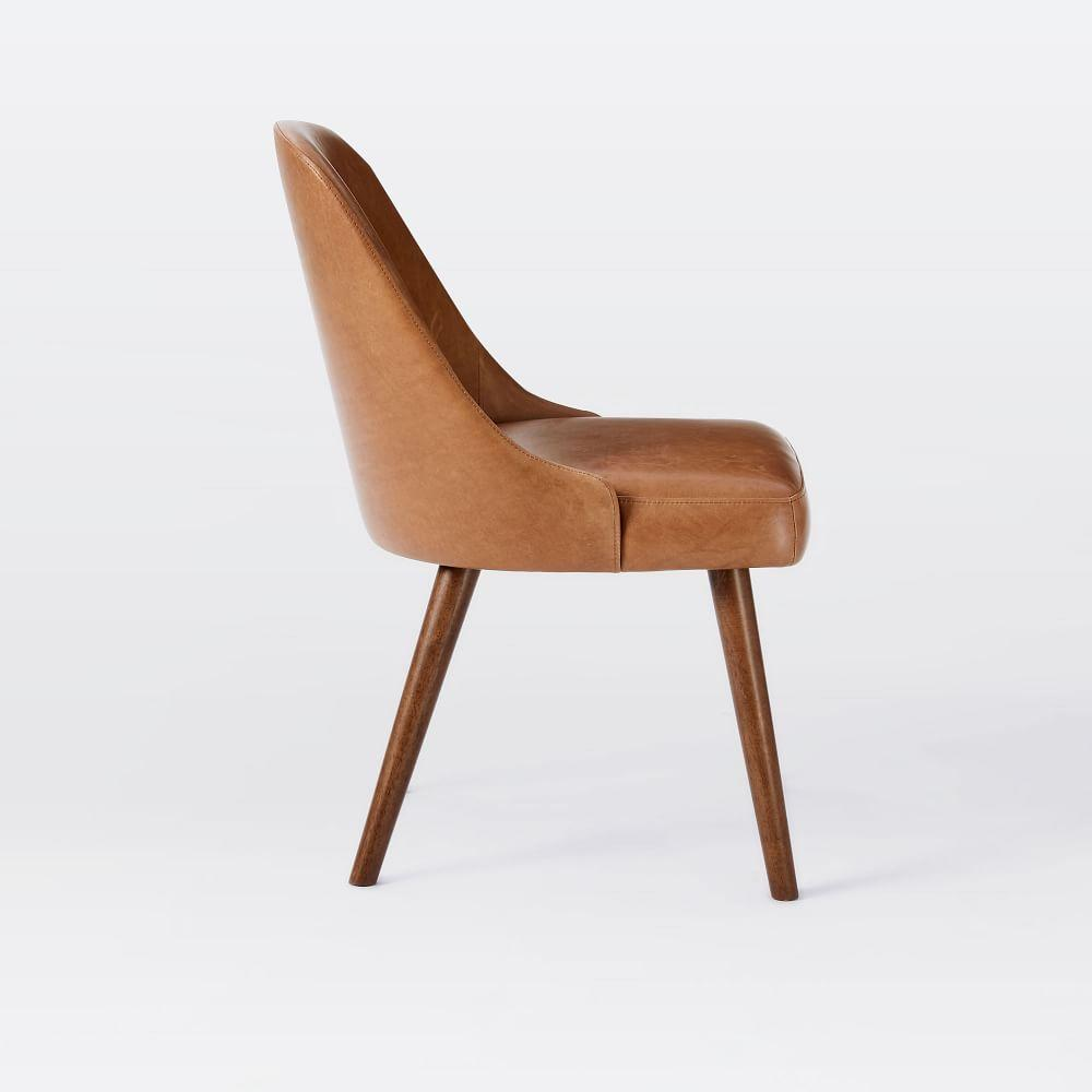midcentury leather dining chair  west elm au - midcentury leather dining chair