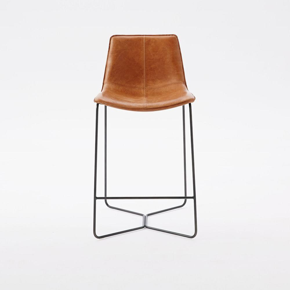 Slope Leather Bar Counter Stools West Elm Australia
