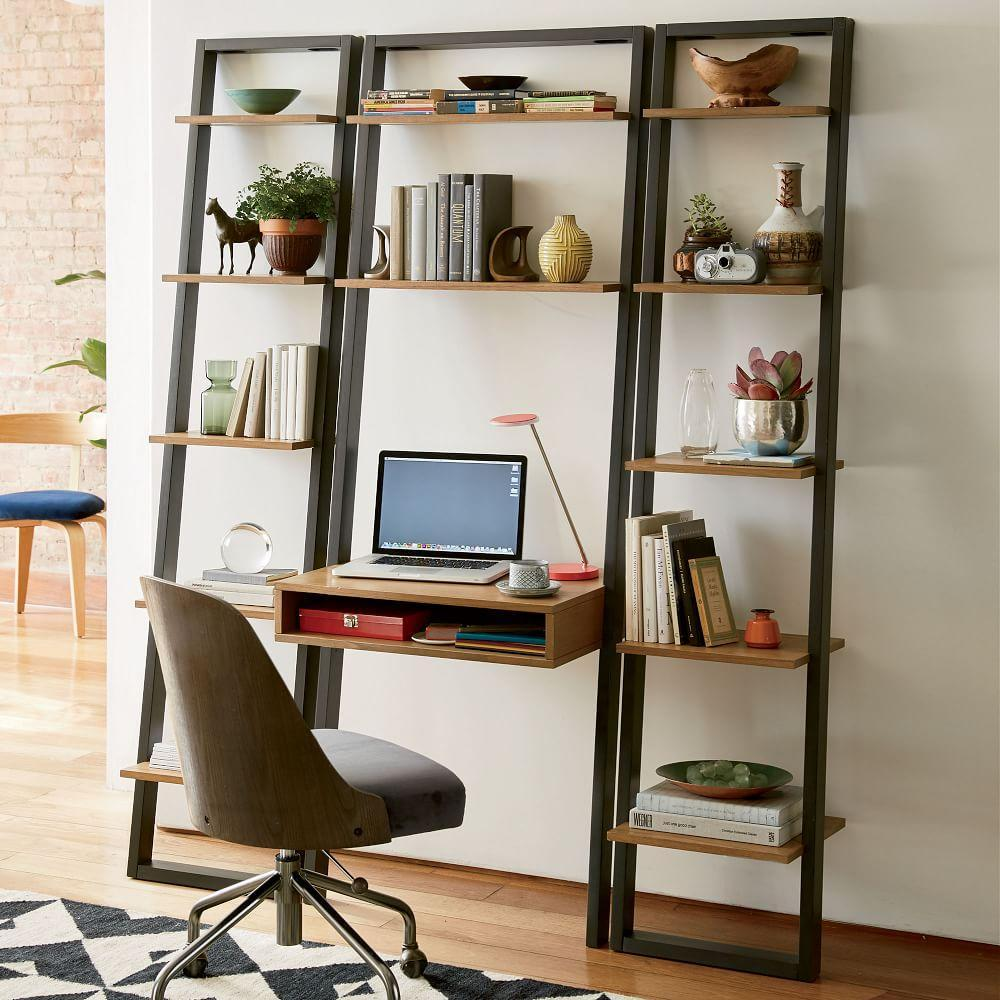 ladder shelf storage desk west elm australia. Black Bedroom Furniture Sets. Home Design Ideas