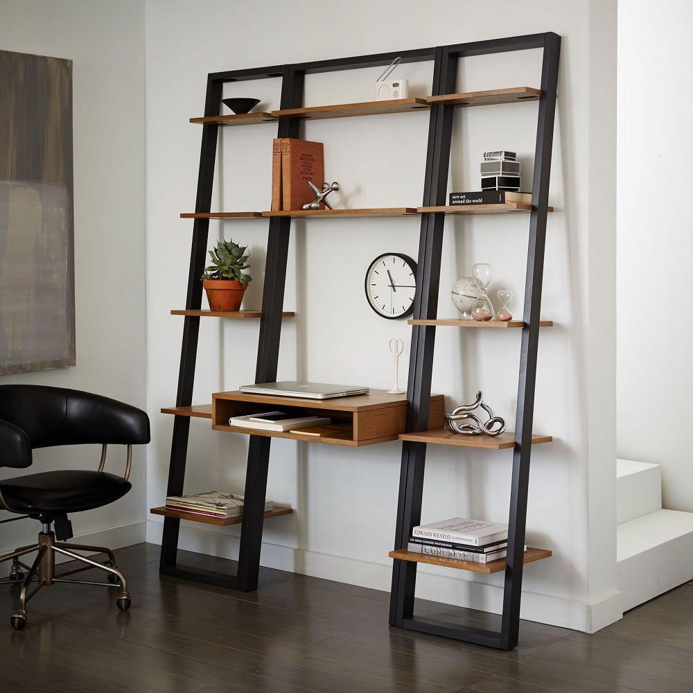Ladder Shelf Storage Desk West Elm Au
