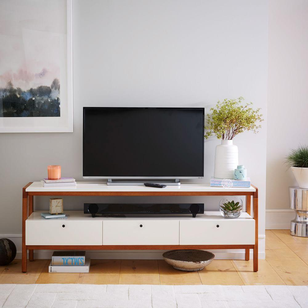 Modern media console 173 cm west elm au Modern media console