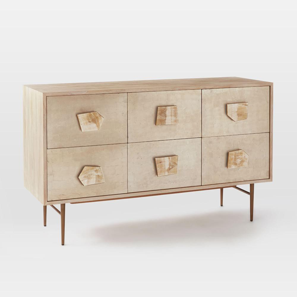 el gorgeous narrow dresser white furniture jolie dorado small