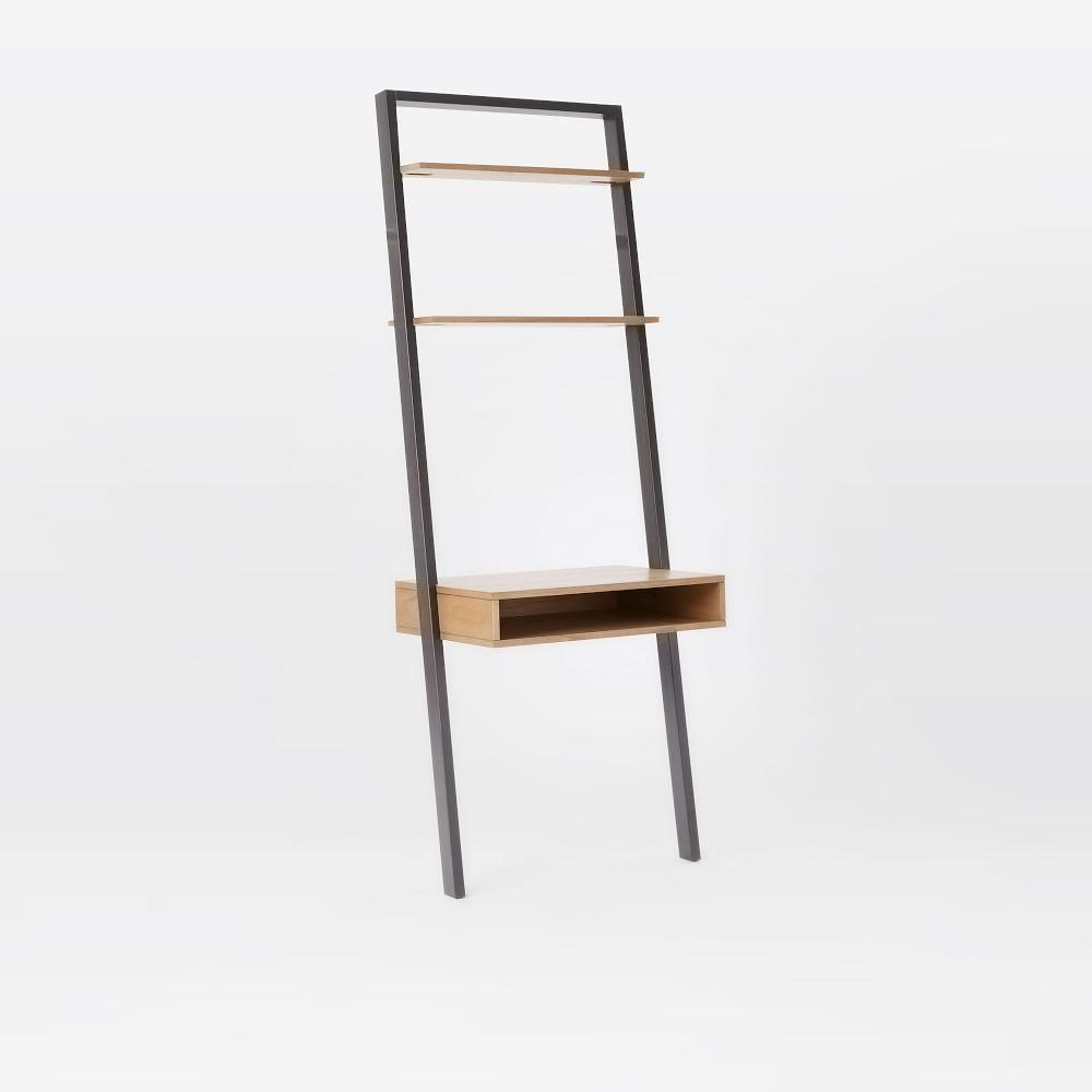 Ladder Shelf Desk Narrow Bookshelf Set West Elm AU