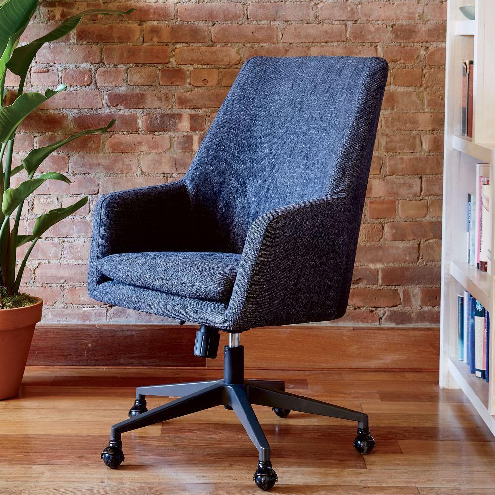 helvetica high back upholstered desk chair west elm au. Black Bedroom Furniture Sets. Home Design Ideas