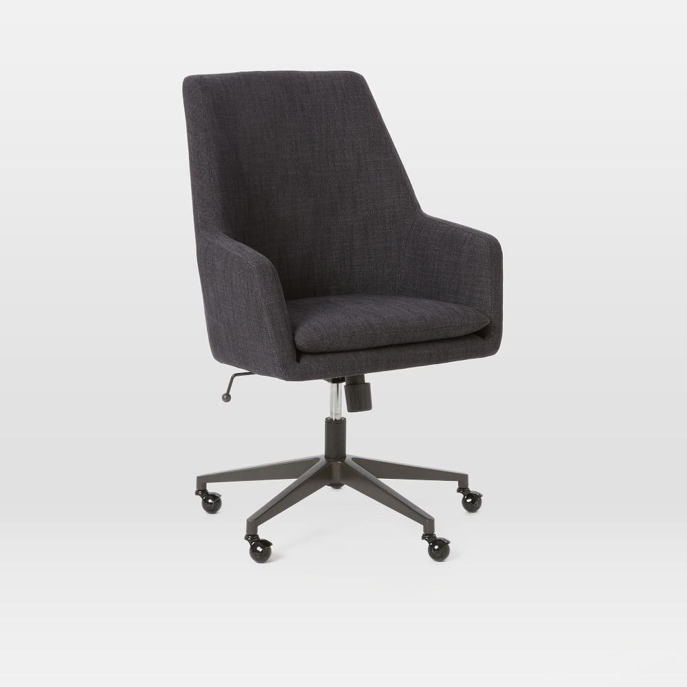 Helvetica High Back Upholstered Desk Chair West Elm Au