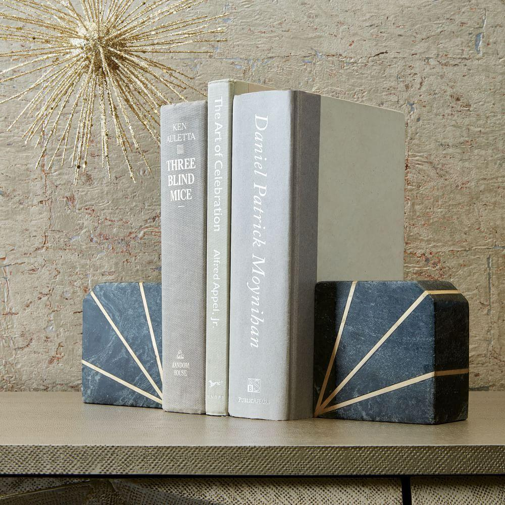 Stone Bookend Grey Marble West Elm Au