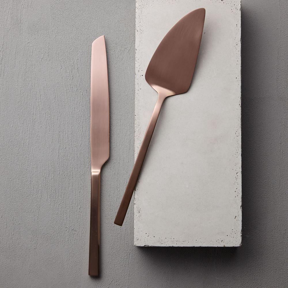 Copper Cake Knife Set West Elm Australia
