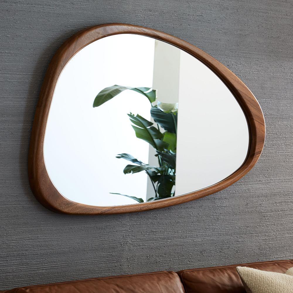 Mid century asymmetrical wall mirror