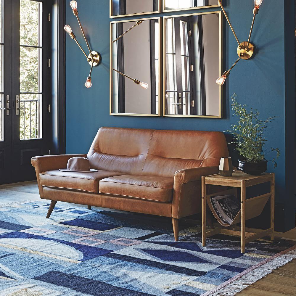 Vienna wool dhurrie cobalt west elm australia for West elm living room ideas