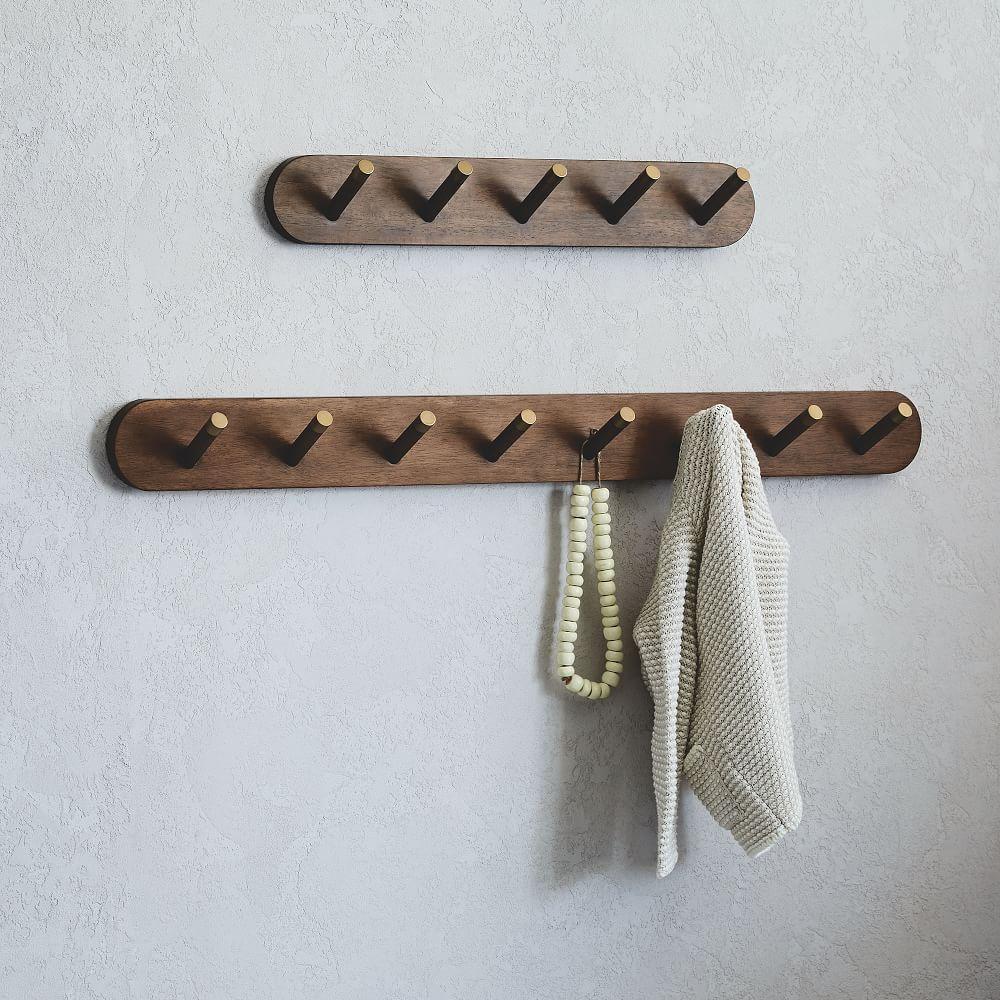 mid century wall mounted coat rack west elm australia. Black Bedroom Furniture Sets. Home Design Ideas