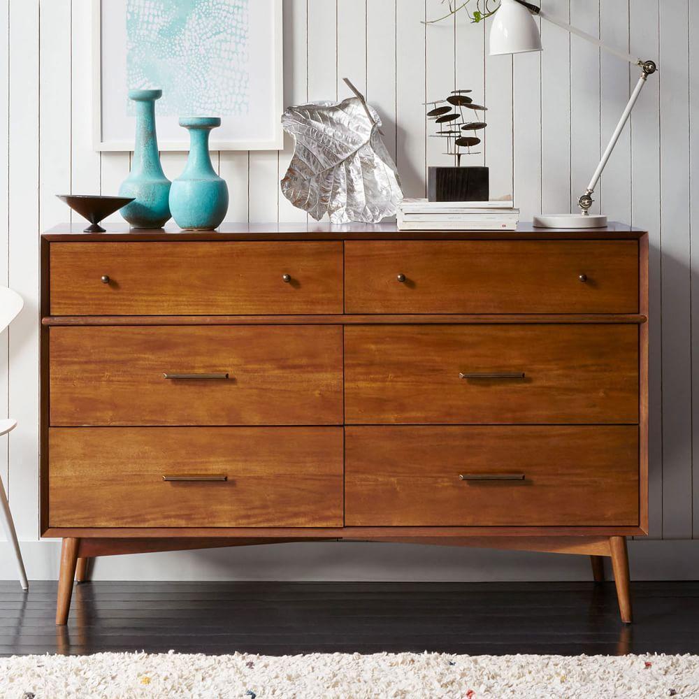 Mid Century 6 Drawer Dresser Acorn West Elm Australia