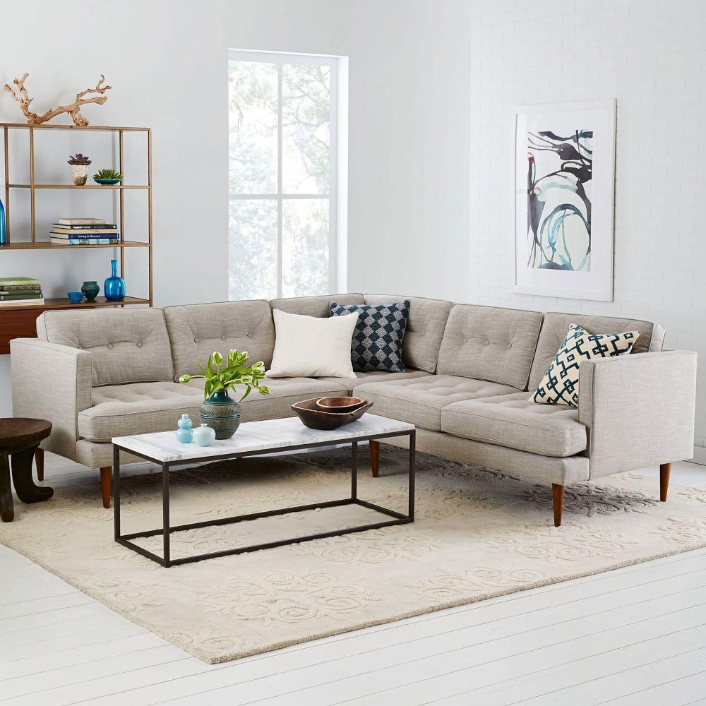Peggy mid century l shaped sectional west elm au for West elm peggy sectional sofa