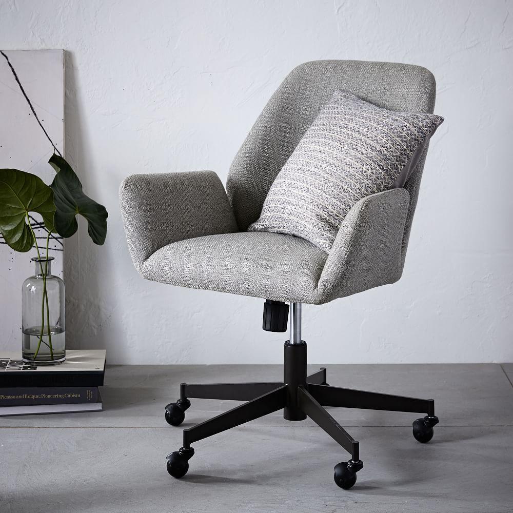 Aluna Upholstered Office Chair West Elm Au