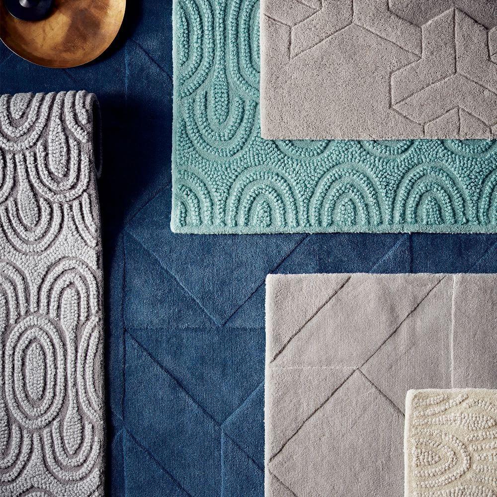Rug carpet tile residential plush carpet tiles rug and carved triangles wool rug midnight west elm au baanklon Choice Image