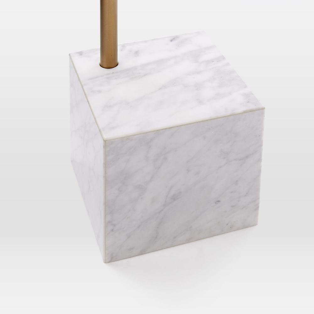 cube side table walnut white marble west elm australia. Black Bedroom Furniture Sets. Home Design Ideas