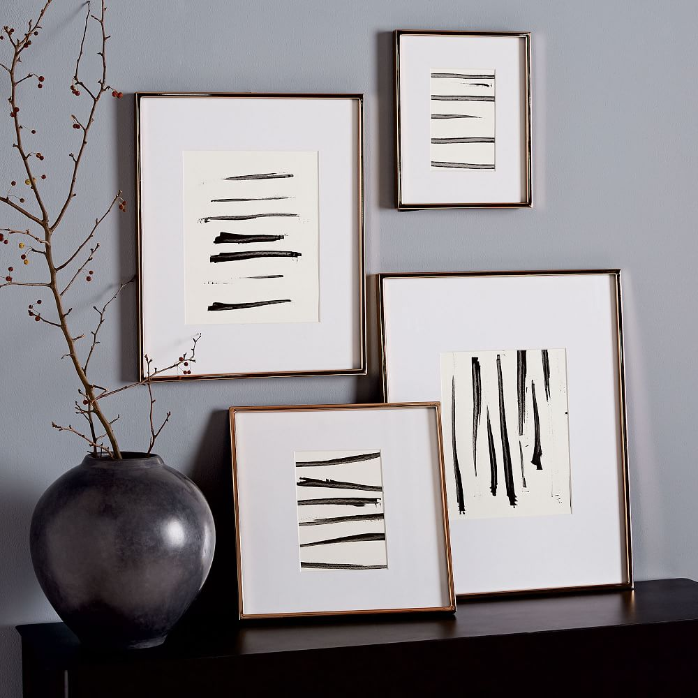 Gallery Frames Polished Rose Gold West Elm Au