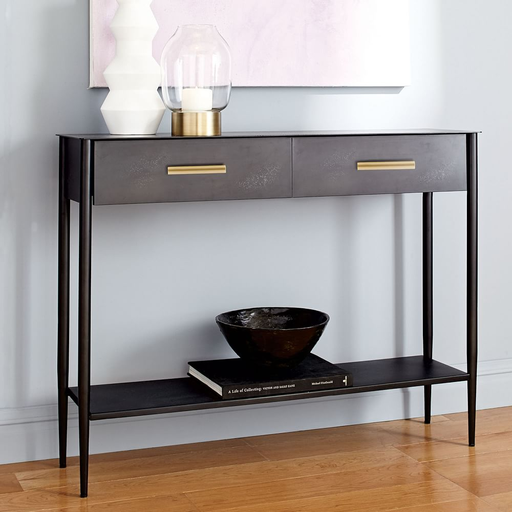 Industrial Cart Coffee Table Australia: Metalwork Console - Hot-Rolled Steel Finish