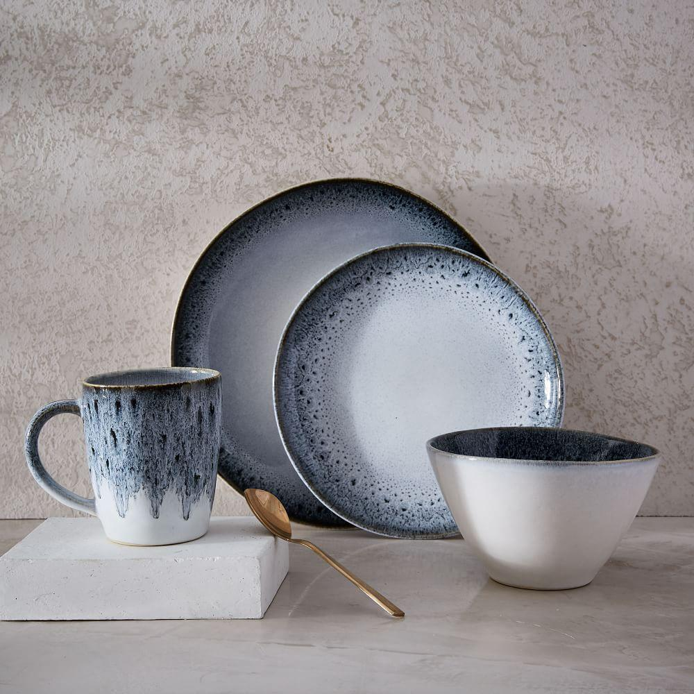 Reactive Glaze Dinnerware Black White West Elm Australia