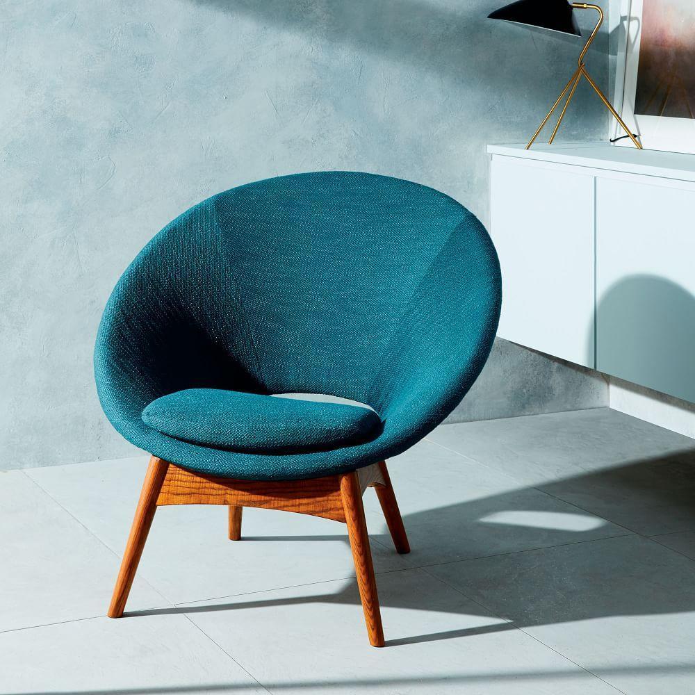 Luna chair teal west elm australia for Small teal chair