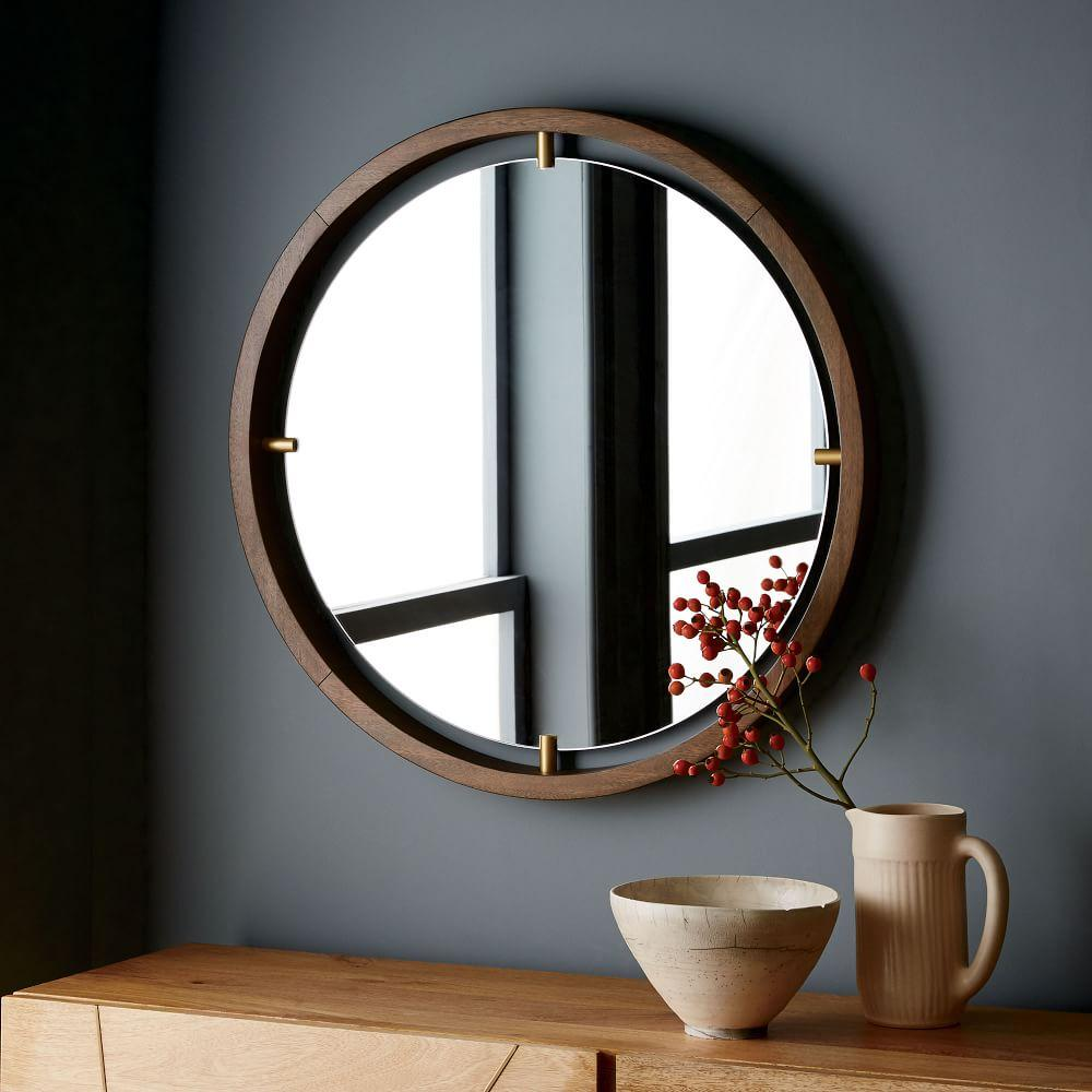 Floating Suspension Round Mirror West Elm Australia
