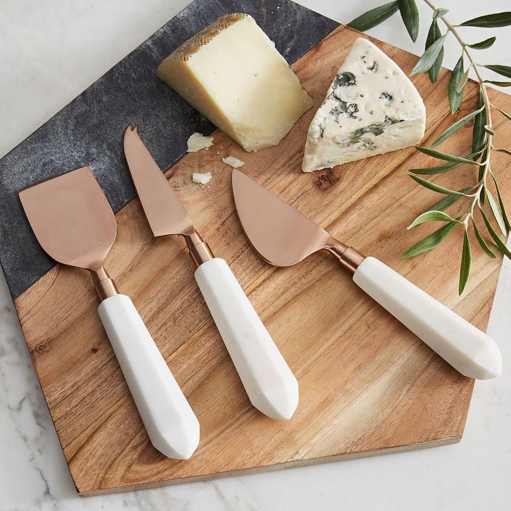 Copper Marble Cheese Knives Set Of 3 West Elm Australia