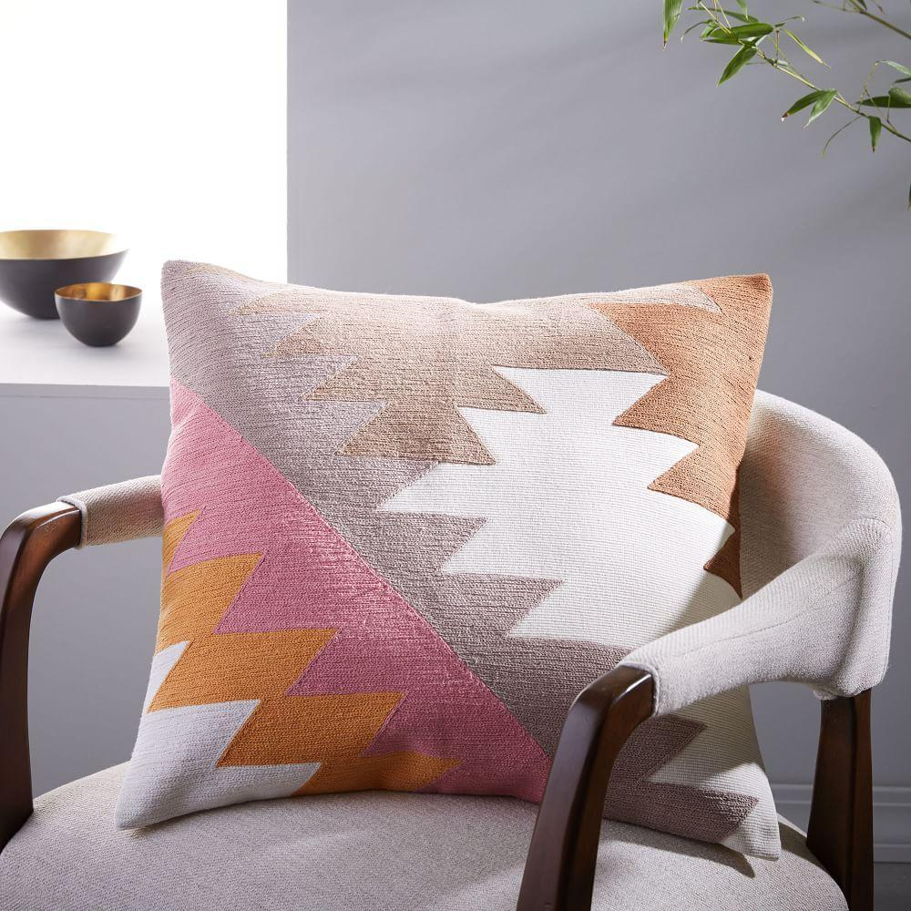 Embroidered Puzzle Cushion Cover west elm AU