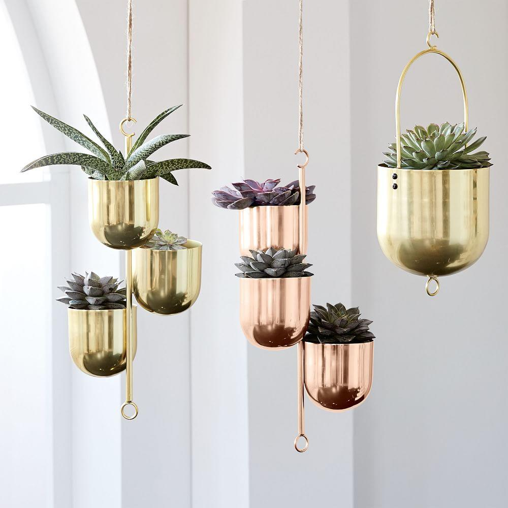 Hanging Metal Planters | west elm AU