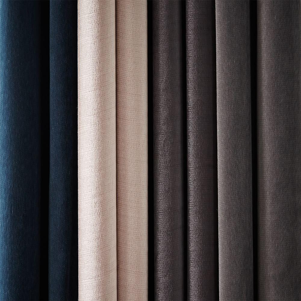 Cotton Lustre Velvet Curtain Blackout Lining Dusty
