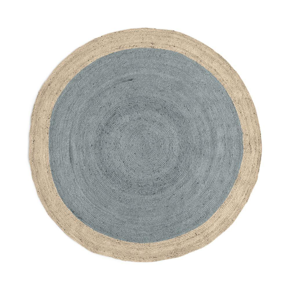 jute hand braided round lisbon red rug cherry products