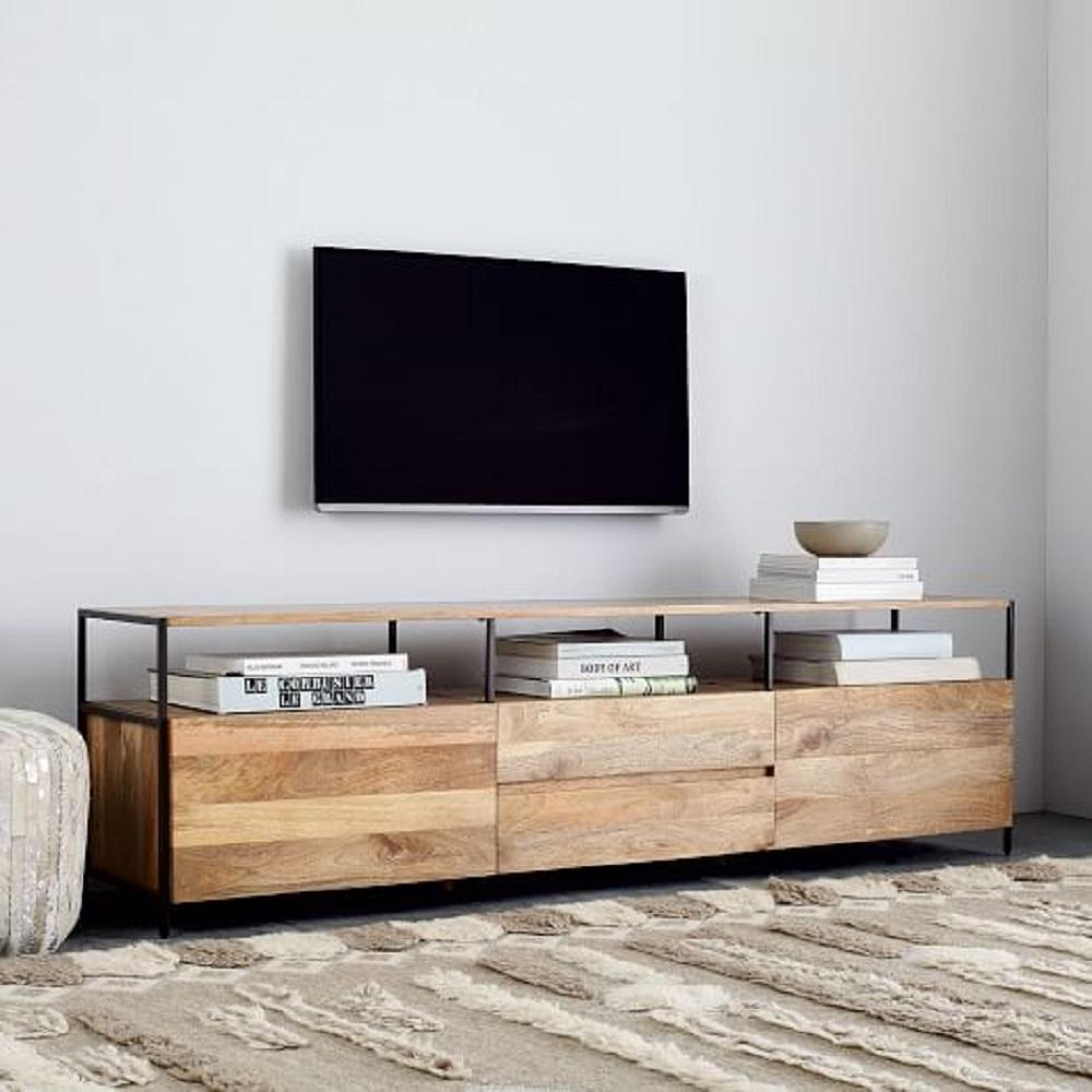Media Cabinets Furniture: Industrial Storage Media Console (203cm)