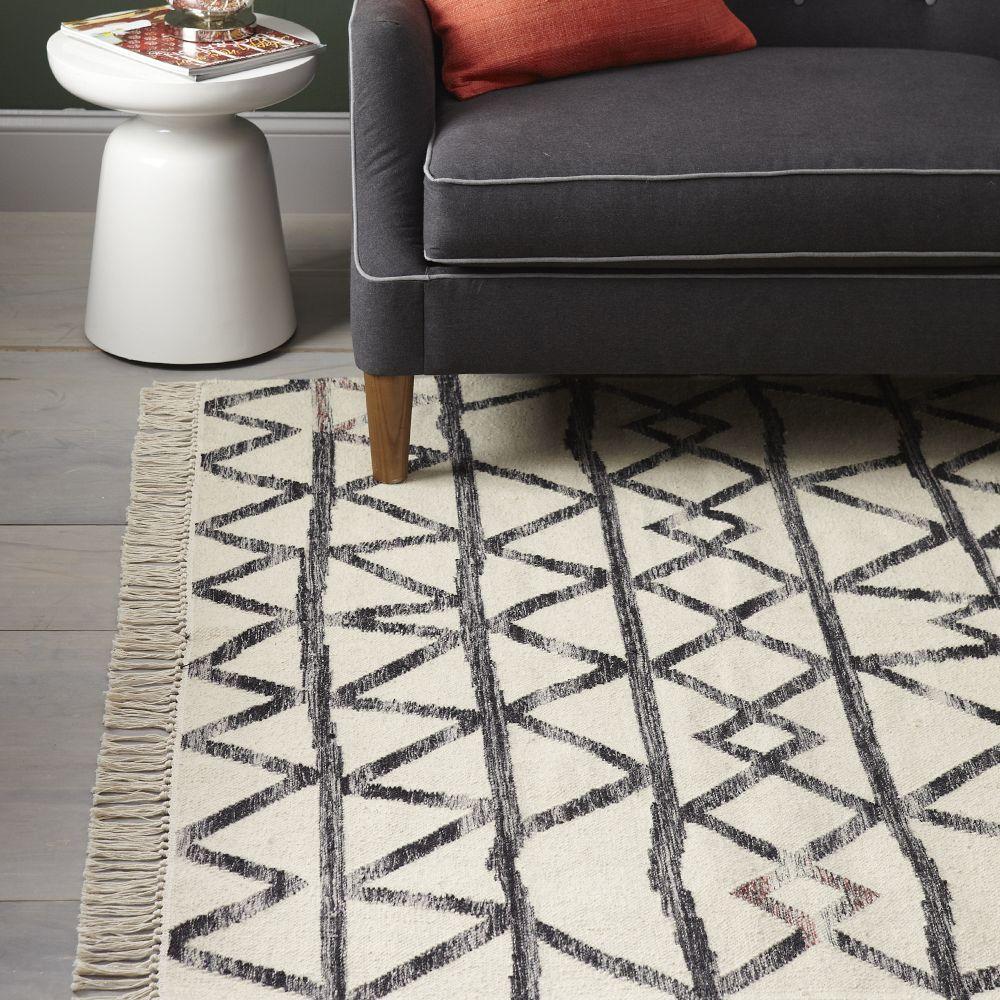 West Elm Wool Rug: Torres Wool Kilim - Iron