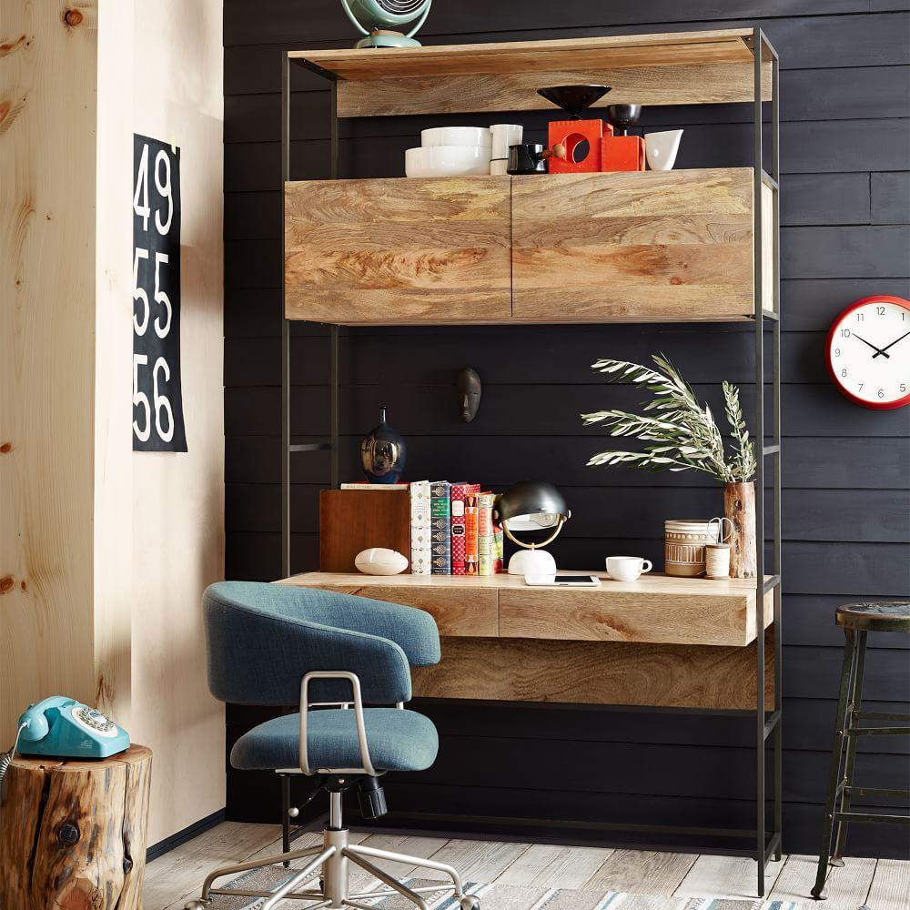 Industrial modular 124 cm desk west elm australia - Industrial look mobel ...
