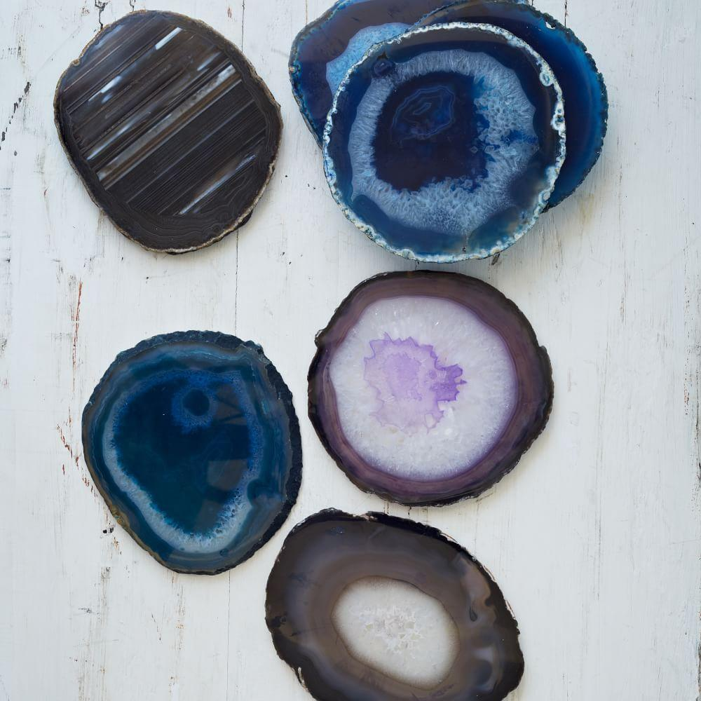 Agate Coasters Set Of 4 West Elm Australia