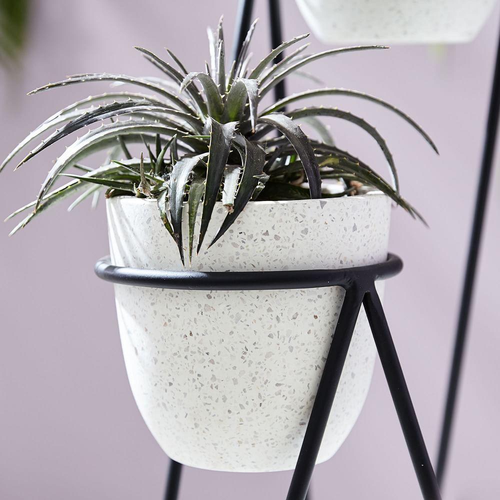 Iris Planter + Chevron Stand - Triple