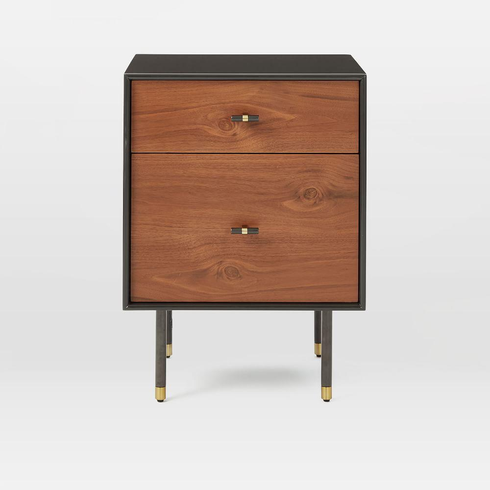 Modernist Wood + Lacquer Bedside Table