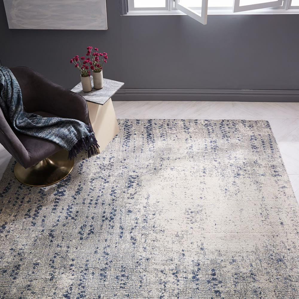 Distressed Foliage Rug - Moonstone