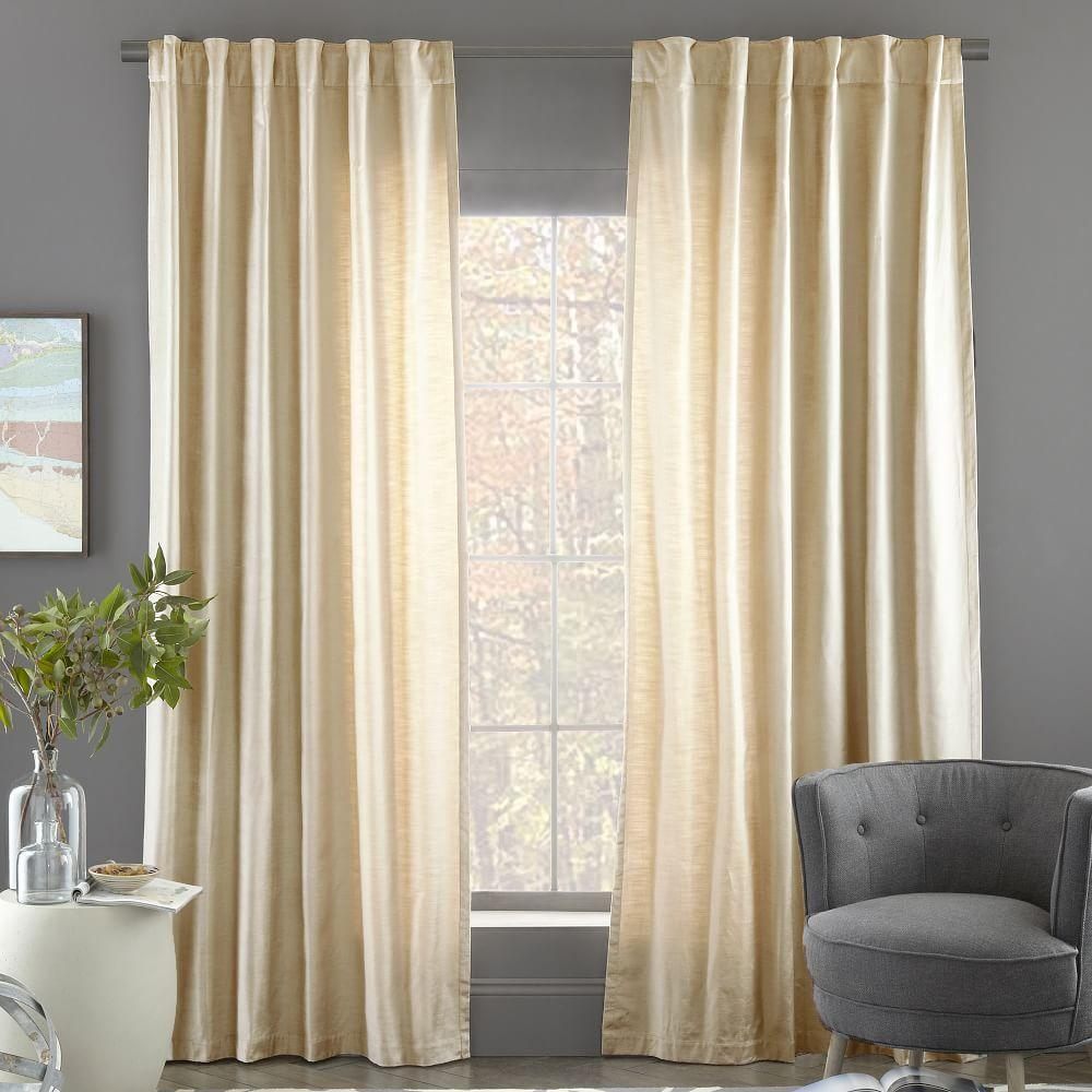 Cotton Lustre Velvet Curtain Blackout Lining Stone
