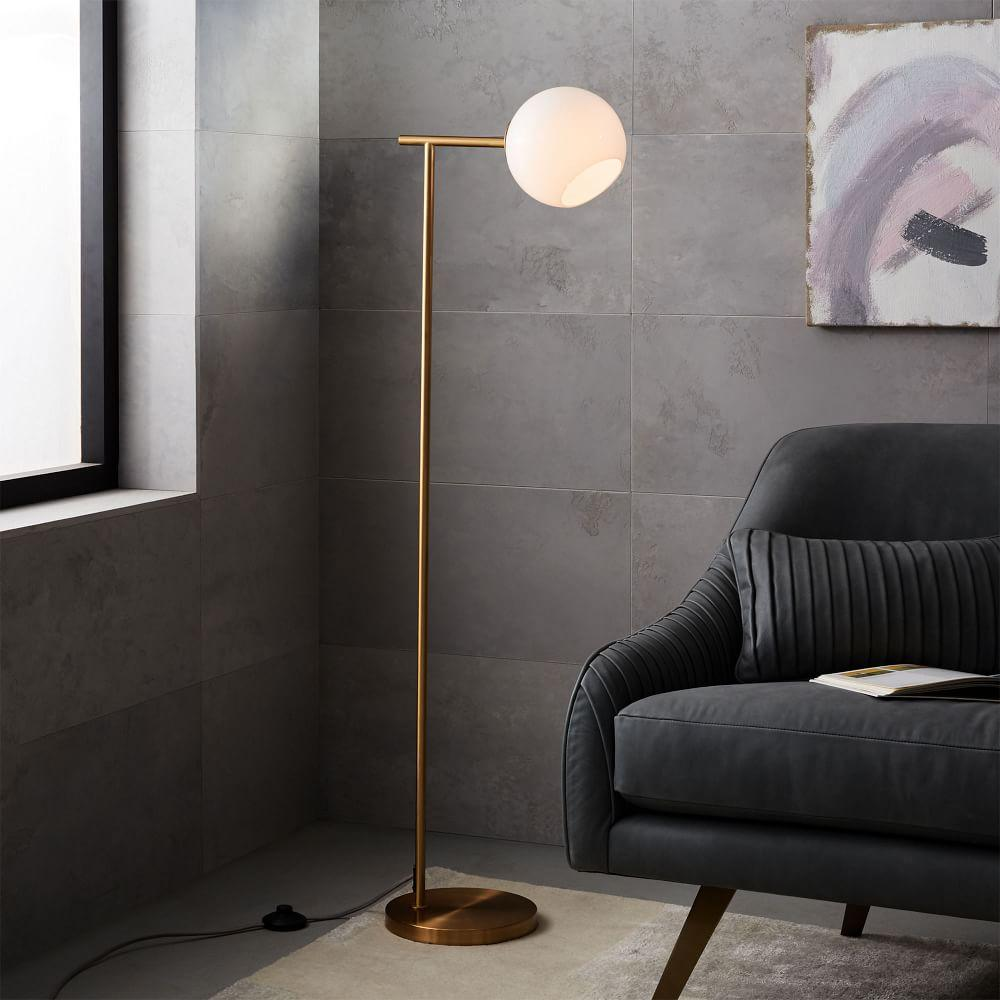 Octavia Floor Lamp Brass: Staggered Glass Floor Lamp
