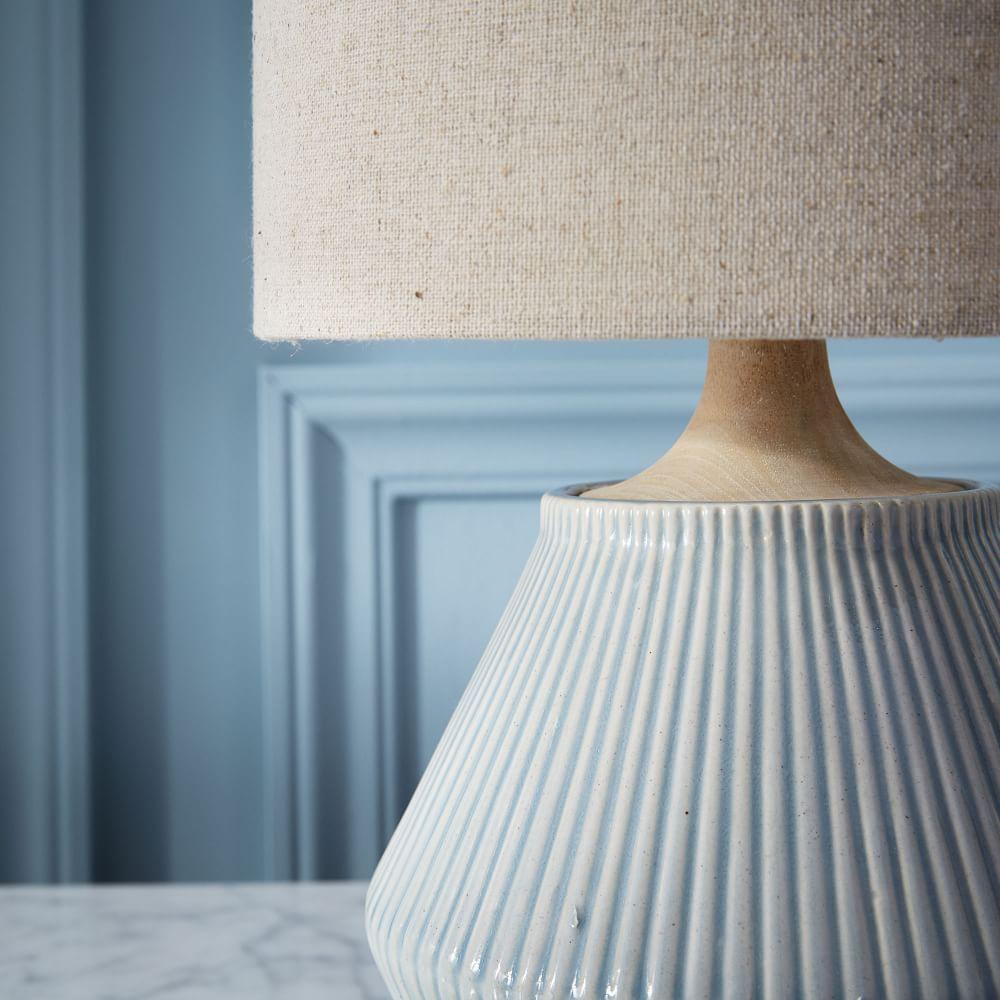 Roar + Rabbit™ Ripple Ceramic Table Lamp - Small Narrow (Cool Grey)