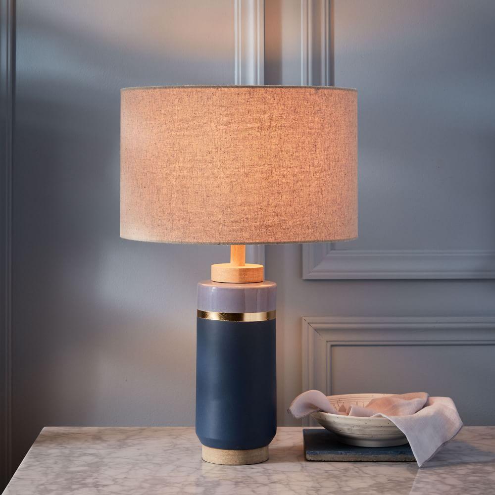Roar Rabbit Crackle Glaze Ceramic Table Lamp Tall
