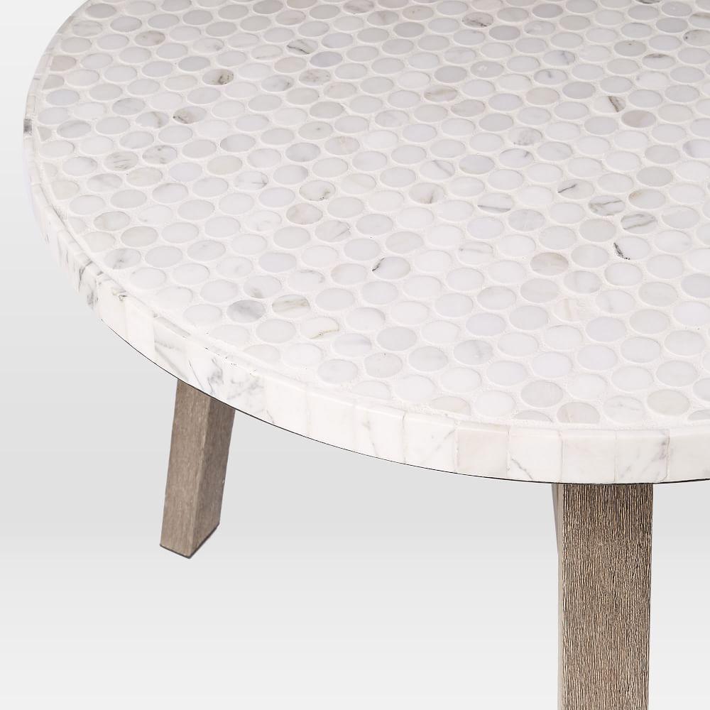 Mosaic Bistro Table White Marble West Elm Australia