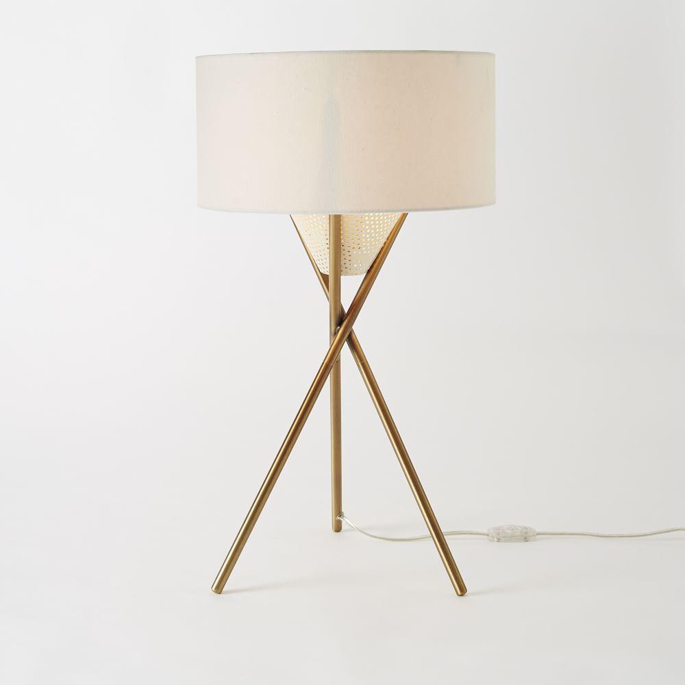Mid century tripod table lamp antique brass west elm australia mid century tripod table lamp antique brass aloadofball Choice Image