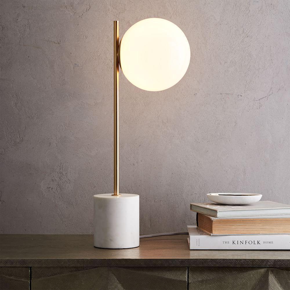 Sphere + Stem Table Lamp
